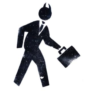 businessman z rogami