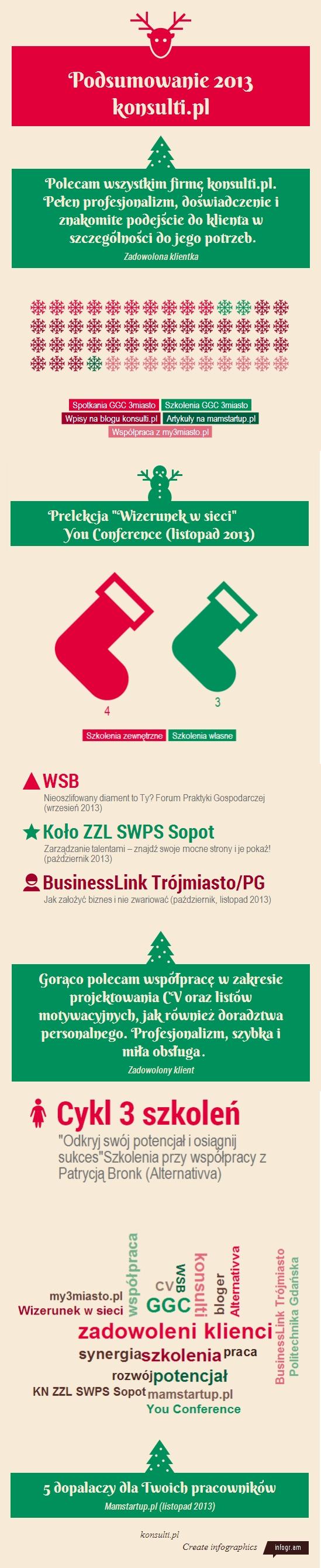 Podsumowanie 2013 roku infografika
